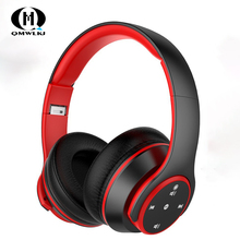 Wireless Headphone Bluetooth Foldable Stereo Gaming Headset EDR Earphone with Mic For iPhone Huawei Xiaomi Smart Phone цена