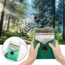 Kalimba – mini Piano à pouce en acrylique, 17 touches, clavier Transparent Mbira, sac à main pour accorder les instruments, avec marteau