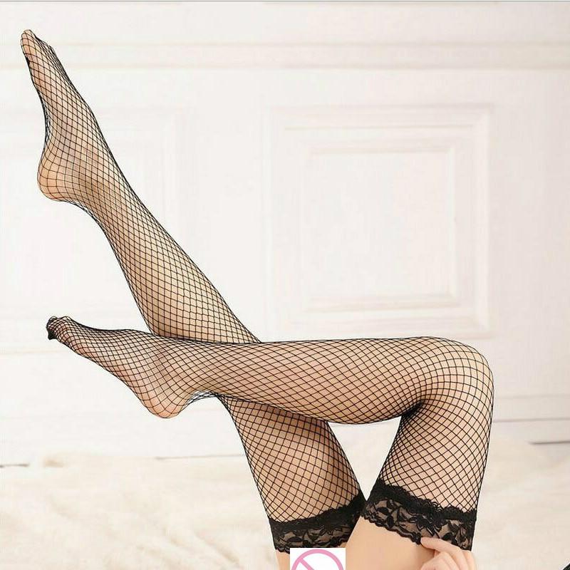 Women Sense Long Tube Eye Net Stockings Ladies Fashion Lace Thin Section Sexy Tube Stocking