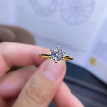 925 silver moissanite ring for engagement 1ct D color sterling jewelry