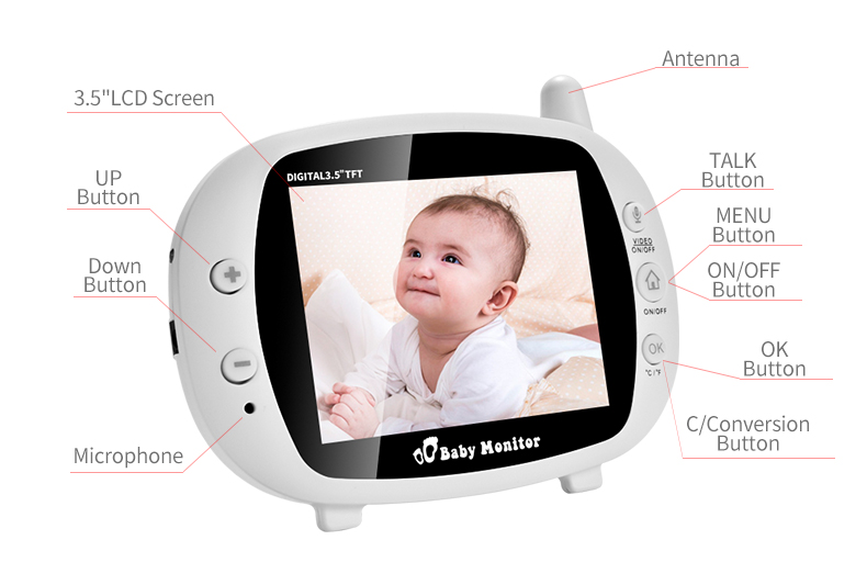 3 inch Baby Monitor With Security Night Vision Camera And a Voice Call For child Security 14