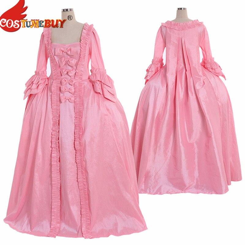 Costume victorien Marie-Antoinette Rococo robe de bal coloniale rose Baroque mascarade princesse femmes robe de mariée sur mesure