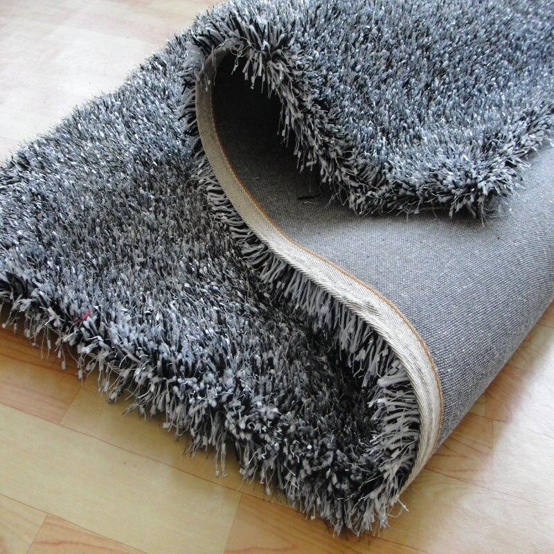 Cheveux longs épaississement stretch soie blanc tapis rouge salon chambre table basse coussin rond tapis de sol tapis de chevet
