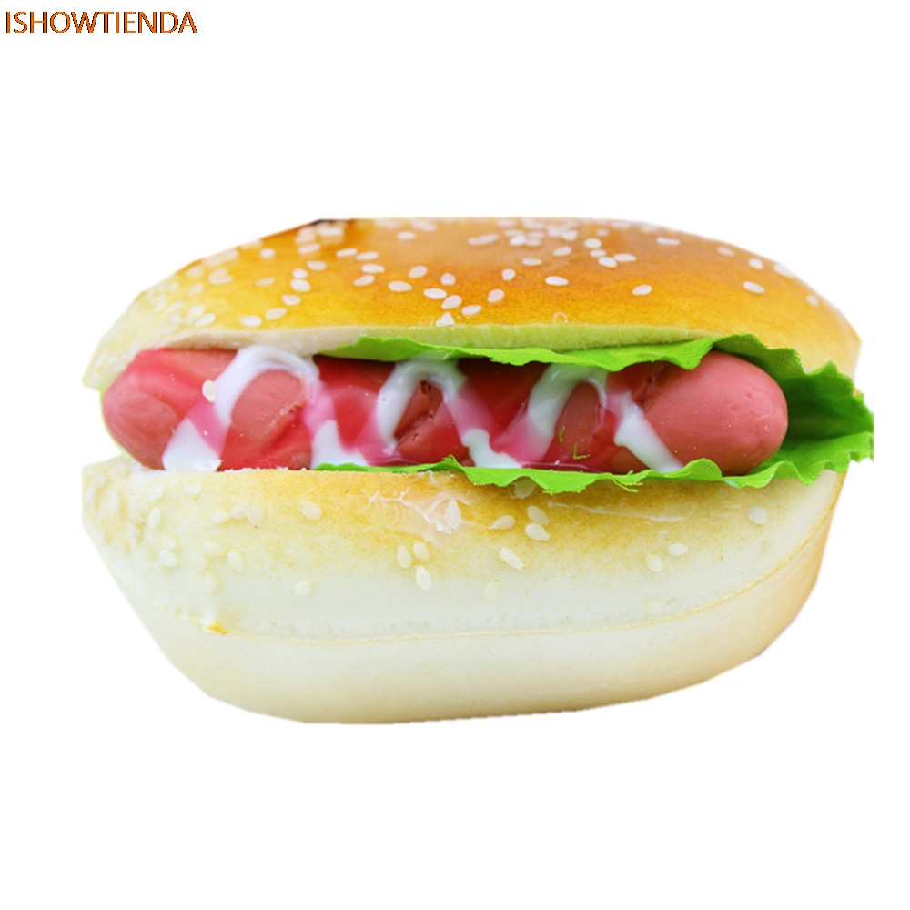 Cute PU Hamburger Squishy Slow Rising Cream Scented Stress Relief Reliever Squishy Squeeze Toy Drop Shipping