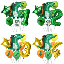 Large Dinosaur Foil Balloons Kids Favor Dino Theme Birthday Party Decor 32inch Number Balloon For Baby Shower Animal Globos Toys animal balloons dinosaur party animal shaped children party decoration large giant dinosaurs inflatable dinosaur balloons toys