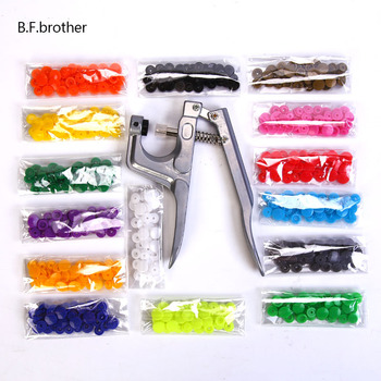 B.F. Brothers Color Snap Button Hand Punching Tool Set For Belt Buckle DIY Garment Decoration Button Hollow Rivet Eye Button free shipping metal grommet machine hand press rivet spot snap button mould tool fit