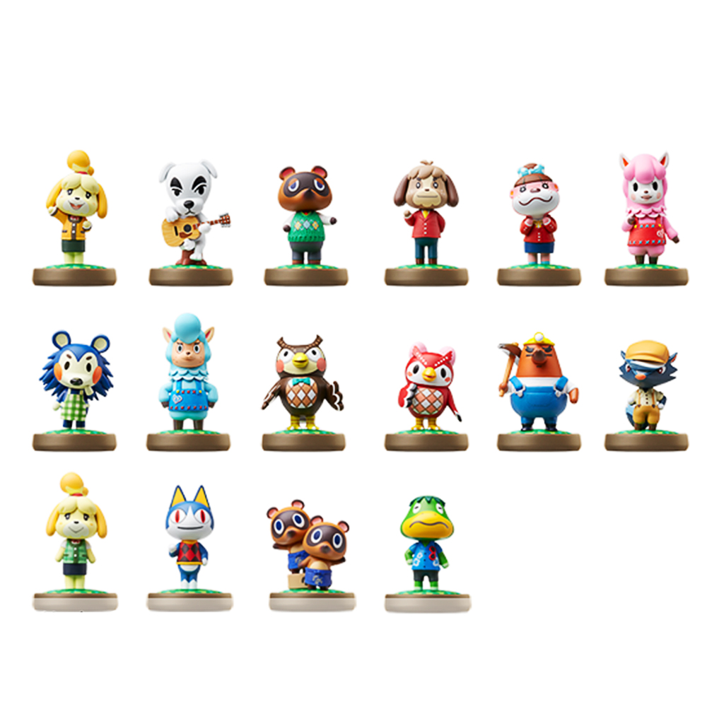 A Set/16pcs High Quality Animal Crossing Of Amiibo Doll Toy Wild World Game Animal Action Figure Toy Collection Modle