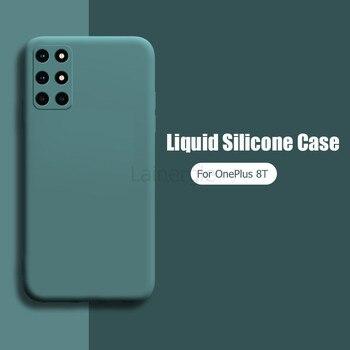 Per OnePlus 8T Nuovo Caso di Liquido Opaca Del Silicone della Macchina Fotografica Molle della Copertura Protetction Per OnePlus 8T Uno Più 8T Telefono Custodie