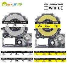 Markurlife LA-4WBA5 LA-4YBA5 tubos do psiquiatra do calor compatíveis para epson LK-4WBA5 (para o rei jim su5s su5y) 55mm/9mm 1111mm/18mm
