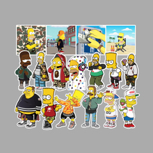 50PCS/SET Stickers The Simpsons Fashion Pattern Anime On Laptop Fridge Car Decor For Skateboard Notebook Guitar