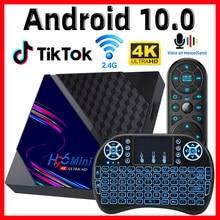Boîtier Smart TV H96 Mini V8, Android 10, 2 go 16 go, RK3228A, Rockship, wifi 2020 Ghz, 4K, Google Playstore, Youtube, 2.4