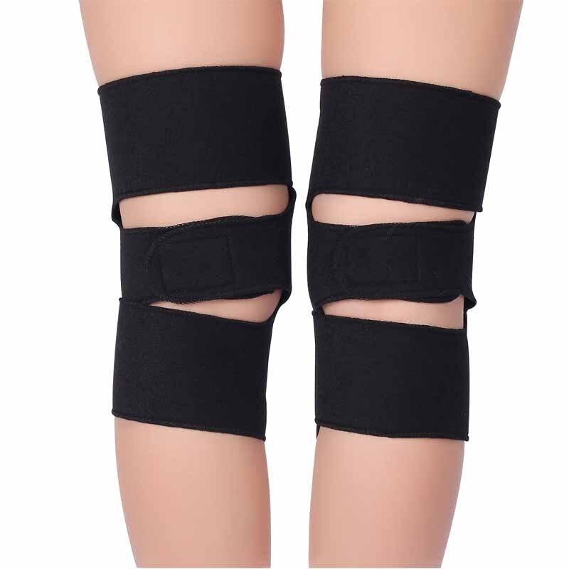 Купить с кэшбэком 1 Pair BYEPAIN Tourmaline Self -heating Kneepad Magnetic Therapy Knee Support Tourmaline Knee Brace Belt Knee Massager