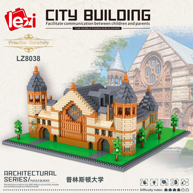 Balody World Famous Architecture Diamond Building Blocks Toy Taj Mahal Vassili Church Big Ben London Bridge 35