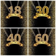 Happy Sweet 18th 25 30 40 50 55th cumpleaños fiesta Gold Dot Party Banner foto de fondo Photophone foto telón de fondo Photostudio