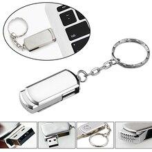 Pendrive de unidad flash Usb de Metal portátil, 128G, 64GB, 32GB, 16GB, 4G, USB 2,0, Mini tarjeta de memoria con llavero