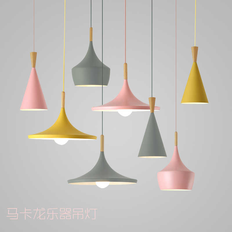 Nordic Pendant Light music instrument lamp Restaurant Bar Kitchen Dining Table Lighting E27 Suspension Drop Light fixtures