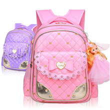 Cute Bow School Bags for Girls Children Backpacks Primary St