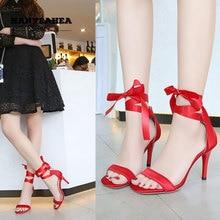 Lace Up Sandalias De Verano Para Mujer Elegane Fashion High Heels Mature Sweet