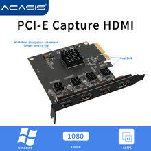 Acasis 4 Kanal HDMI-kompatibel PCI-E Video Capture Card 1080p 60fps OBS Wirecast Live Broadcast Streaming Adapter Quad ports