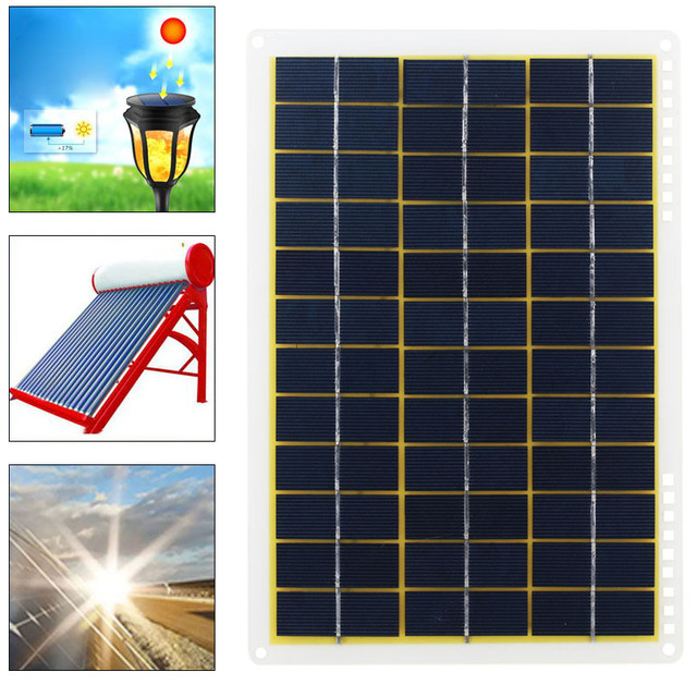 15W 27*18.5*0.3cm Solar Charging Equipment Solar Panel Phone Charger Home Improvement Travel Camp IP65 Solar Cells Powered 5