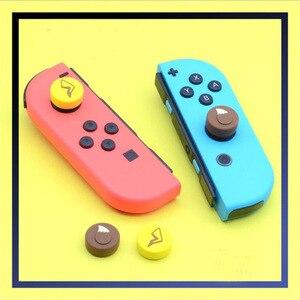 Image 3 - 4pcs Creative Theme Thumb Stick Grip Cap Joystick Cover For Nintend Switch Lite NS Joy Con Controller Gamepad Thumbstick Case