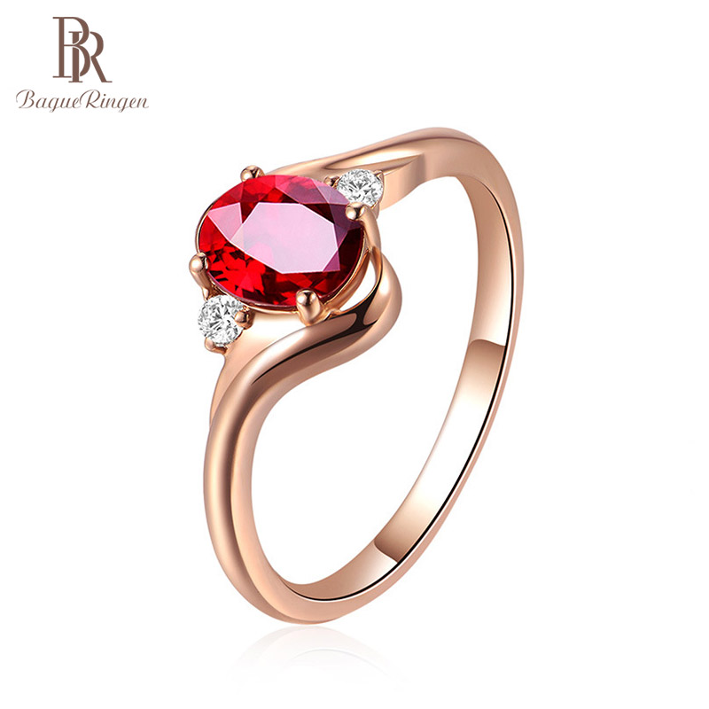 Bague Ringen 925 Sterling Silver Created Ruby Opening Adjustable Rings For Women Wedding Party Red Gemstone Ring Jewellery Gift