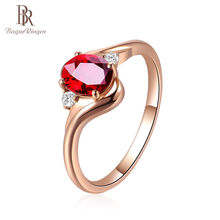 Bague Ringen 925 Sterling Silver Created Ruby Opening Adjustable Rings for Women Wedding Party Red Gemstone Ring Jewellery Gift(China)