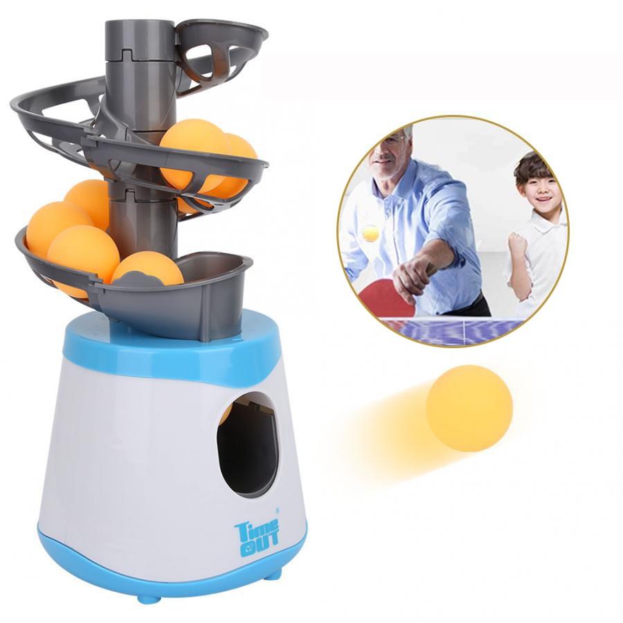 Portable Table Tennis Ball Machine Launcher Ping Pong Robot Parent-child Sender Pitching Serve Children Balls Sport Equipment