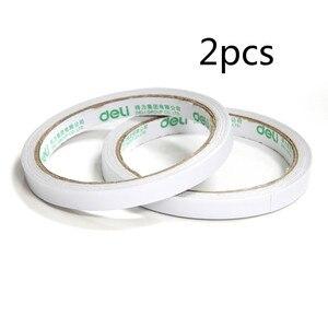 Deli 30400 Doppelseitiges Klebeband Verbreiten 9mm * 10y Tissue Papier Doppelseitige Handgemachten Haft Klebeband einzel-Volumen
