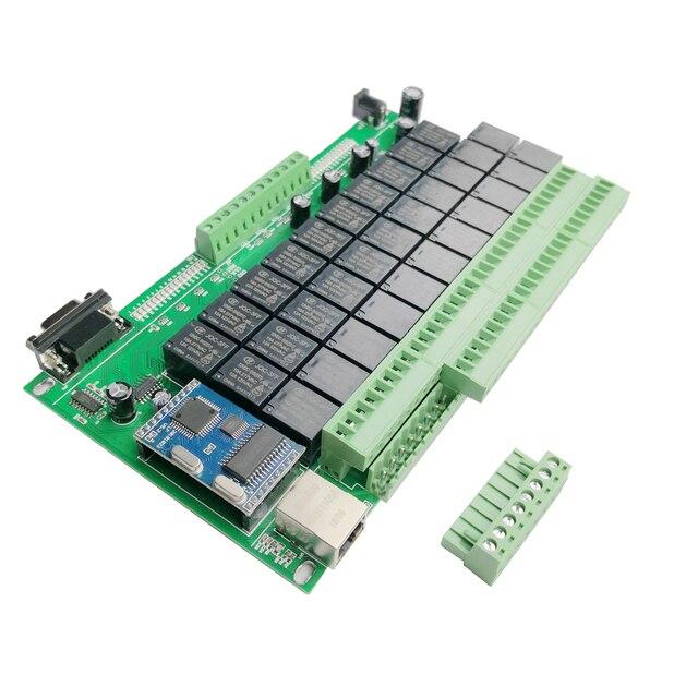 32CH Domotica умный дом Комплект Автоматизация модуль управления Лер сети Ethernet TCP IP реле управления Переключатель системы безопасности 32 банды