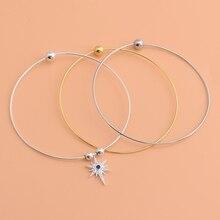 S925 silber gewinde armband, perlen screw perle armband, handgemachte DIY schmuck durch die herz armband