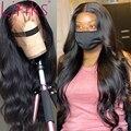 Парик из человеческих волос с кутикулой звеньев 4X4, парики на шнуровке спереди для черных женщин, предварительно выщипанные бразильские неп...