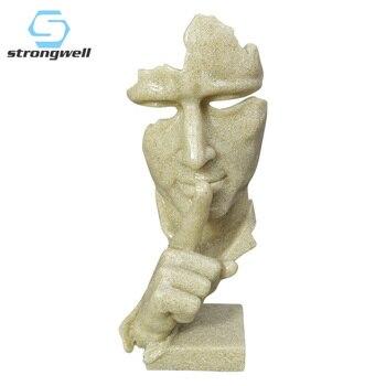 Креативные статуи из смолы, скульптура, современное Человеческое мышление, медитаторы, Абстрактные Художественные поделки, фигурка персон...