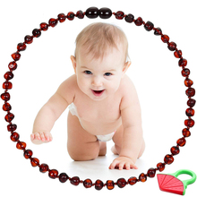 Natural Baltic Amber Baby Teething Necklace Jewelry for