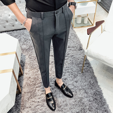 2020 NEW Casual Business Suit Pant Men Slim Fit Ankle Length Mens Dress Pant Fashion Formal Trousers male clothing Size 28-36