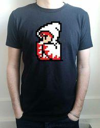 Camisa de t dos homens do gamer da fantasia final de sprite do mago branco