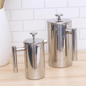 Image 4 - 350/800/1000ML kahve kapları çift katmanlı paslanmaz çelik kahve ve çay makinesi fransız basın ısı koruma kupa