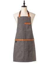 Fashion Kitchen aprons cooking canvas Denim apron for Woman man Restaurant work apron smocks Pinafore adult apron Custom logo