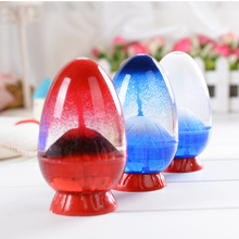 Volcanic eruption oil drops pose new strange fun hourglass decoration home creative gift birthday holiday youda new creative design diamond shape oil hourglass stress reliever oil sand timer best birthday gift oil hourglass