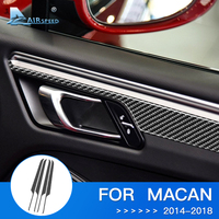 Airspeed 4pcs for Porsche Macan Sticker for Porsche Macan Accessories Interior Trim Carbon Fiber Door Panel Decoration Stickers