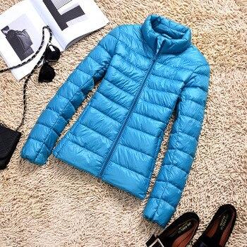 New Brand 90% White Duck Down Jacket Women Autumn Winter Warm Coat Lady Ultralight Duck Down Jacket Female Windproof Parka 15