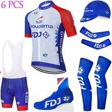 TEAM – Maillot de cyclisme bleu FDJ 20D à séchage rapide, combinaison complète pour le cyclisme