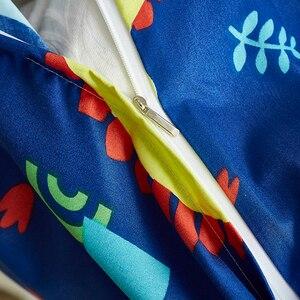 Image 5 - 쿨 블루 공룡 2/3pcs 이불 커버 침구 세트 어린이 베개 케이스 침대 시트 침대 커버 귀여운 만화 패턴 3 크기