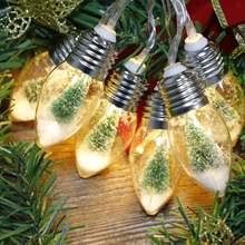 Hhs Рождественское дерево снежинки огни гирлянда новый год светодиодные