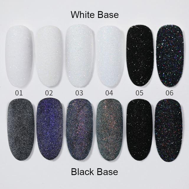 2/10g Nail Powder Sugar Sparkling Glittering Pigment Dust Hair Wool Holographic Nail Decoration Tips Nail Art Accessories