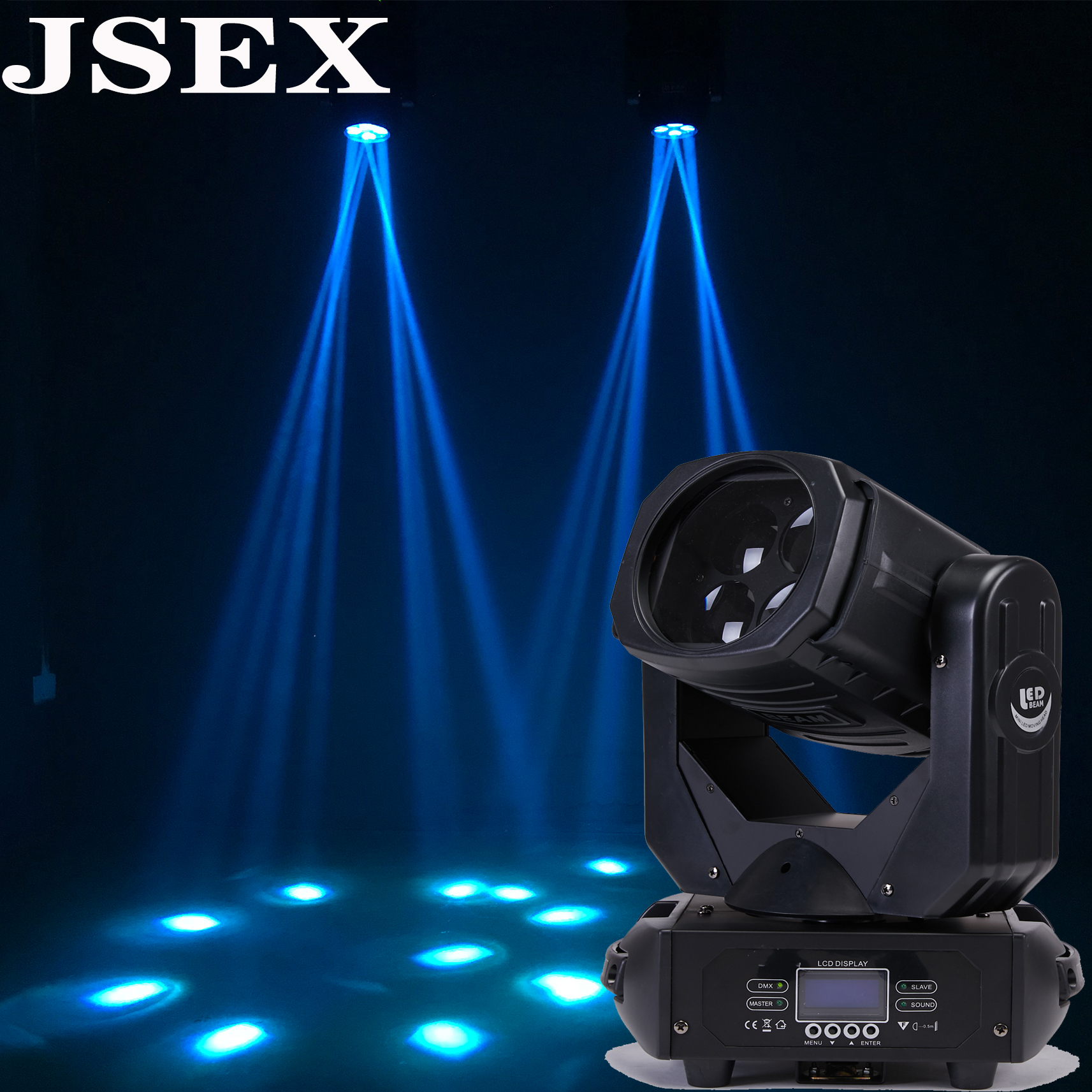 Free Postage4x25W LED 200W Super Beam Moving Head Lights Spot Zoom DMX 9/15CH For Disco Stage Wedding Party Decorations