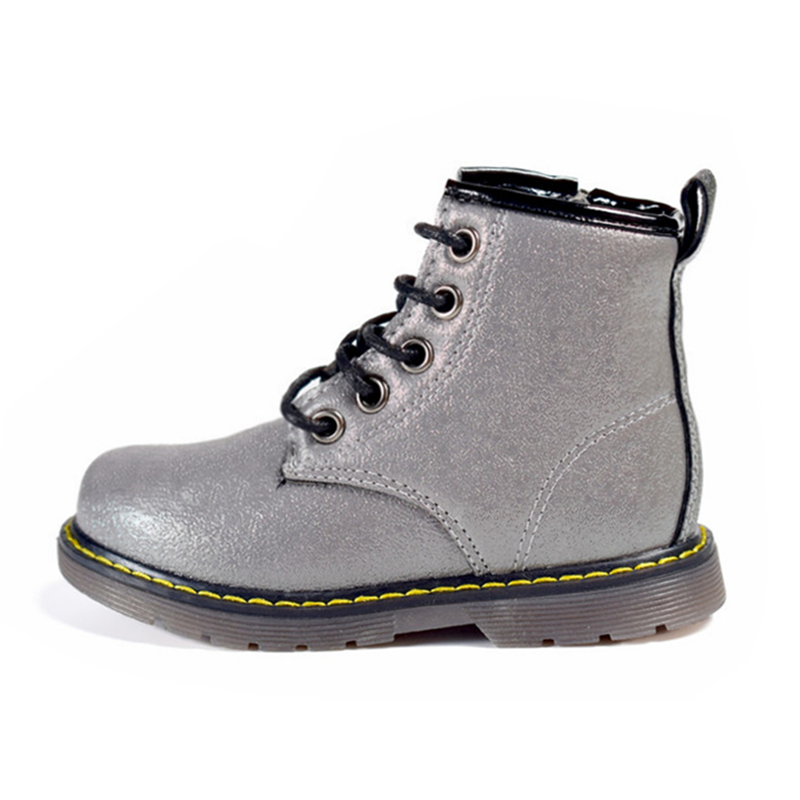 DIMI Children Boots PU Leather Waterproof Martin Boots Autumn/Winter Fashion Kids Baby Boots Brand Girls Boys Shoes Rubber Boots