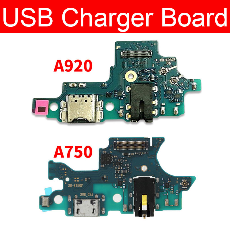 USB Charging Dock Board For Samsung <font><b>Galaxy</b></font> A7 <font><b>A9</b></font> 2018 A750 A920 <font><b>Charger</b></font> Port Connector Flex Cable Phone Replacement Repair Parts image