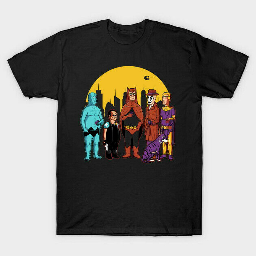 Watchmen X King Of The Hill Hank Dr Manhattan Bobby The Comedian Black T-Shirt For Youth Middle-Age The Elder Tee Shirt image