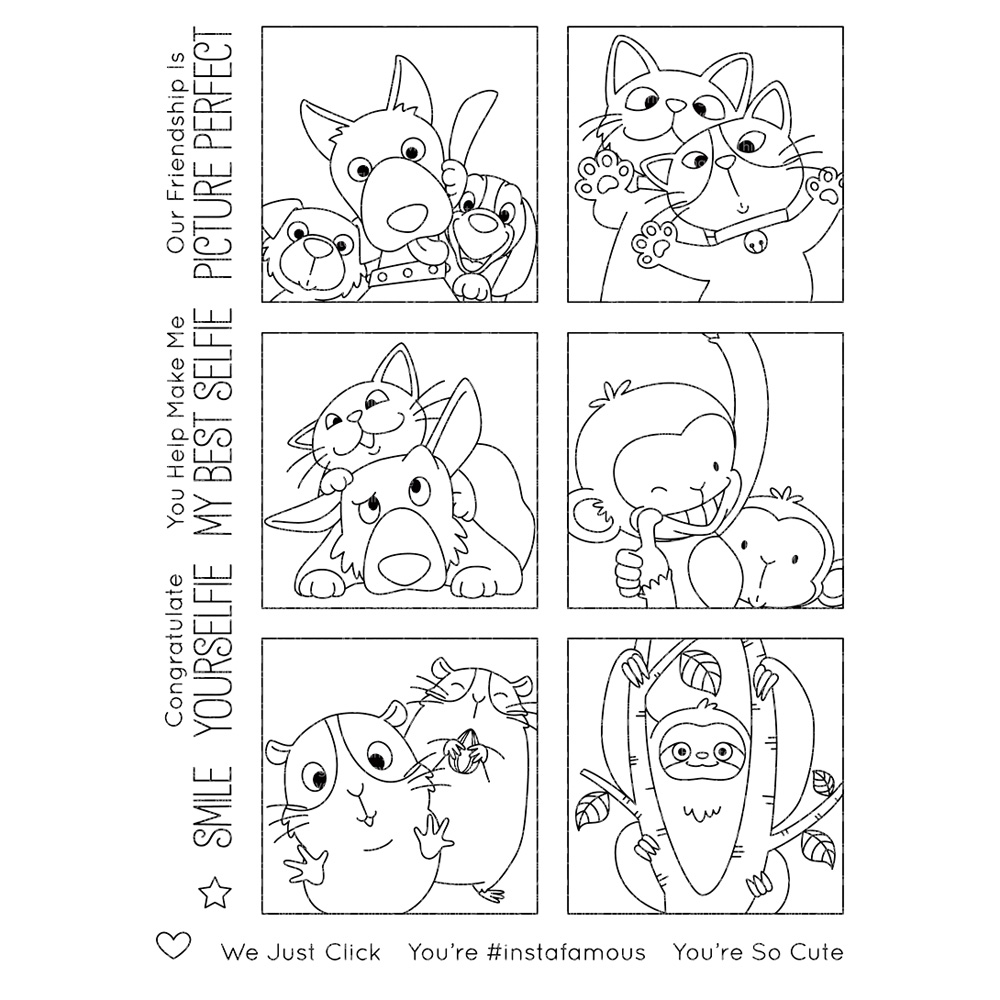 Picture Perfect Transparent Clear Silicone Stamp/Seal For DIY Scrapbooking/photo Album Decorative Clear Stamp